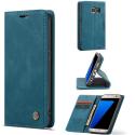 CASEME013-S7BLEU - CaseMe étui latéral Galaxy S7 aspect nubuck bleu