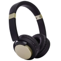 CASQUE-1603GOLD - Caque audio bluetooth arceau noir et gold