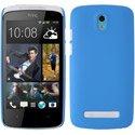 CASYBLEUDESIRE500 - Coque rigide bleue pour HTC Desire 500 aspect mat toucher rubber gomme