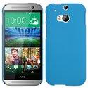 CASYBLEUHTCM8 - Coque rigide Casy Coloris Bleu HTC One M8 aspect mat toucher rubber gomme