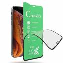 CERAMIC-IP11 - Film protecteur écran intégral 3D en céramique incassable iPhone 11/XR contour noir