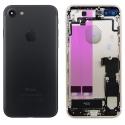 CHASSIS-IP7NOIR - Chassis complet iPhone 7 pré-monté avec nappes + boutons coloris Gris foncé