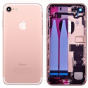CHASSIS-IP7ROSE - Chassis complet iPhone 7 pré-monté avec nappes + boutons coloris rose
