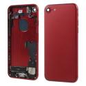 CHASSIS-IP7ROUGE - Chassis complet iPhone 7 pré-monté avec nappes + boutons coloris rouge