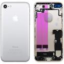 CHASSIS-IP7SILVER - Chassis complet iPhone 7 pré-monté avec nappes + boutons coloris silver