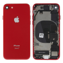 CHASSISNAPPE-IP8ROUGE - Chassis complet iPhone 8 rouge avec nappes (assemblé)