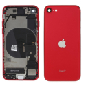 CHASSISNAPPE-IPSE2020RED - Chassis complet iPhone SE(2020) rouge avec nappes (assemblé)