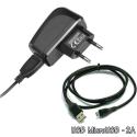CHV2A-MICROUSB - Chargeur secteur USB 2A + Câble micro-USB