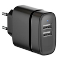 CHVUSBNOIR-15W - Chargeur secteur double USB 15W Eco-Friendly