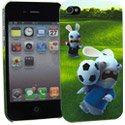 CLCIP4FOOTPENAL - Coque Foot Penalty Lapins Cretins pour iPhone 4S