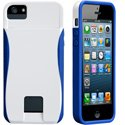 CMPOPID-IP5-BLANBLEU - Coque Case-Mate POP porte cartes pour Apple iPhone 5s et 5 Blanc Bleu