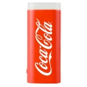 COCA-2500LEDROUGE - Batterie de secours Coca-Cola Power-Bank avec lampe de poche coloris rouge