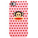 COIP4_JULIUS_ROSE - Coque Paul Frank Julius Rose pour iPhone 4