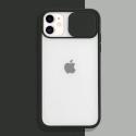 COQUEAPN-IP11NOIR - Coque antichoc iPhone 11 avec protection appareil photo noir et transparent