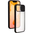 COQUEAPN-IP12MINI - Coque antichoc iPhone 12 Mini avec protection appareil photo noir et transparent