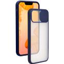 COQUEAPN-IP13BLEU - Coque antichoc iPhone 13o avec protection appareil photo coloris bleu et transparent