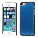COVALUIP6BLEU - Coque rigide avec aluminium brossé bleu pour iPhone 6