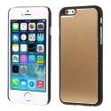 COVALUIP6GOLD - Coque rigide avec aluminium brossé gold pour iPhone 6