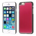 COVALUIP6ROUGE - Coque rigide avec aluminium brossé rouge pour iPhone 6
