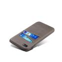 COVCARTE-IP8GRIS - Coque iPhone 7/8 coloris gris avec logements cartes