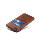 COVCARTE-IP8MARRON - Coque iPhone 7/8 coloris marron avec logements cartes