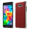COVDIAMGRANDPRIMEROUGE - Coque rigide aspect diamants fond rouge Samsung Galaxy Grand-Prime SM-G530h