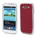 COVDIAMI9060ROUGE - Coque rigide aspect diamants fond rouge Samsung Galaxy Grand Plus et Grand Neo