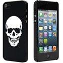COVIP5SKULL-NO - Coque arrière noire motif Skull pour iPhone 5