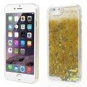 COVIP6LIQUIDSTARGOLD - Coque rigide iPhone 6 collection Liquide Star gold avec étoiles et paillettes argentées