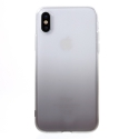 COVIPX-DEGRGRIS - Coque souple iPhone X transparente et gris