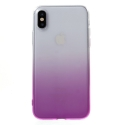 COVIPX-DEGRVIOLET - Coque souple iPhone X transparente et violet