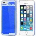 COVLABYIP5BLEU - Coque rigide iPhone 5S collection Labyrinthe bleu avec bille a l'intéieur