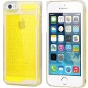 COVLABYIP5JAUNE - Coque rigide iPhone 5S collection Labyrinthe jaune avec bille a l'intéieur