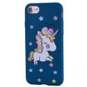 COVLICO-IP8BLEU - Coque Licorne iPhone 7/8 avec strass et paillettes coloris bleu
