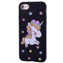 COVLICO-IP8NOIR - Coque Licorne iPhone 7/8 avec strass et paillettes coloris noir