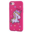 COVLICO-IP8ROSE - Coque Licorne iPhone 7/8 avec strass et paillettes coloris rose