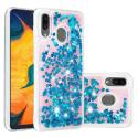 COVLIQUID-A20BLEU - Coque Galaxy A20 / A30 avec liquide strass et paillettes bleues