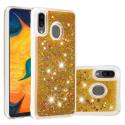 COVLIQUID-A20GOLD - Coque Galaxy A20 / A30 avec liquide strass et paillettes dorées