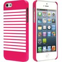 COVMARINIEREIP5-ROSE - Coque sailor marinière rose et blanche pour iPhone 5s
