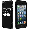 COVMOUSTACHEIP5-NO - Coque noire motif moustache pour iPhone 5