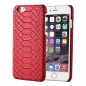 COVPYTHONIP6ROUGE - Coque rigide cuir aspect python rouge pour iPhone 6s