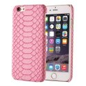 COVPYTHONIPROSE - Coque rigide cuir aspect python rose pour iPhone 6s