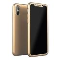 COVRIG360IPXGOLD - Coque iPhone X Protection 360° intégrale gold avec verre protection écran