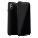 COVRIG360IPXNOIR - Coque iPhone X Protection 360° intégrale noir avec verre protection écran