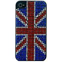 COVSTRASSUK-IP5 - Coque drapeau Anglais Strass pour Iphone 5 Union Jack