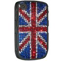 COVSTRASSUK-S8520 - Coque drapeau Anglais Strass pour Blackberry Curve 8520 Union Jack