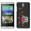 CPRN1DES610CHOUETTEBRANCHE - Coque noire pour HTC Desire 610 Impression motif Chouette colorée sur une branche