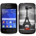 CPRN1POCKET2PARIS2CV - Coque rigide noire Galaxy Pocket 2 avec impression Motif Paris et 2CV