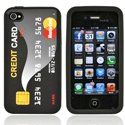 CREDICARD-IP4 - housse silicone carte cr�dit pour iPhone 4 et 4S