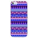 CRYSAIPHONE4AZTEQUEBLEUVIO - Coque rigide pour Apple iPhone 4 avec impression Motifs aztèque bleu et violet